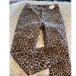 NWT Express High Rise Leopard Legging Jeans